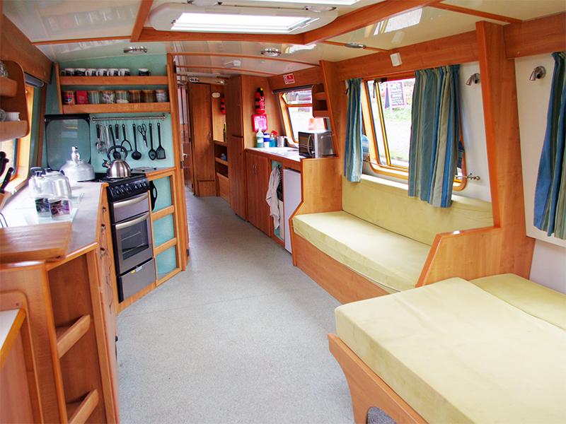 Inside Rebecca Canal Boat