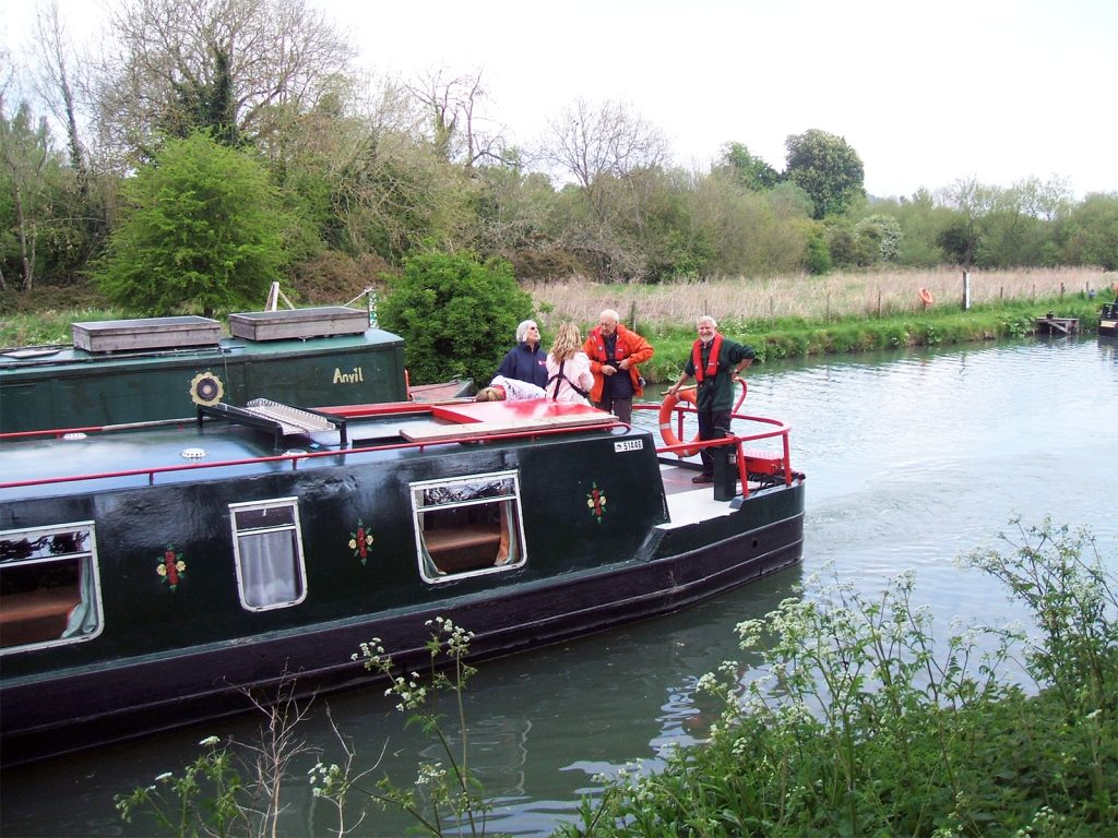 Training on the Hannah canal boat