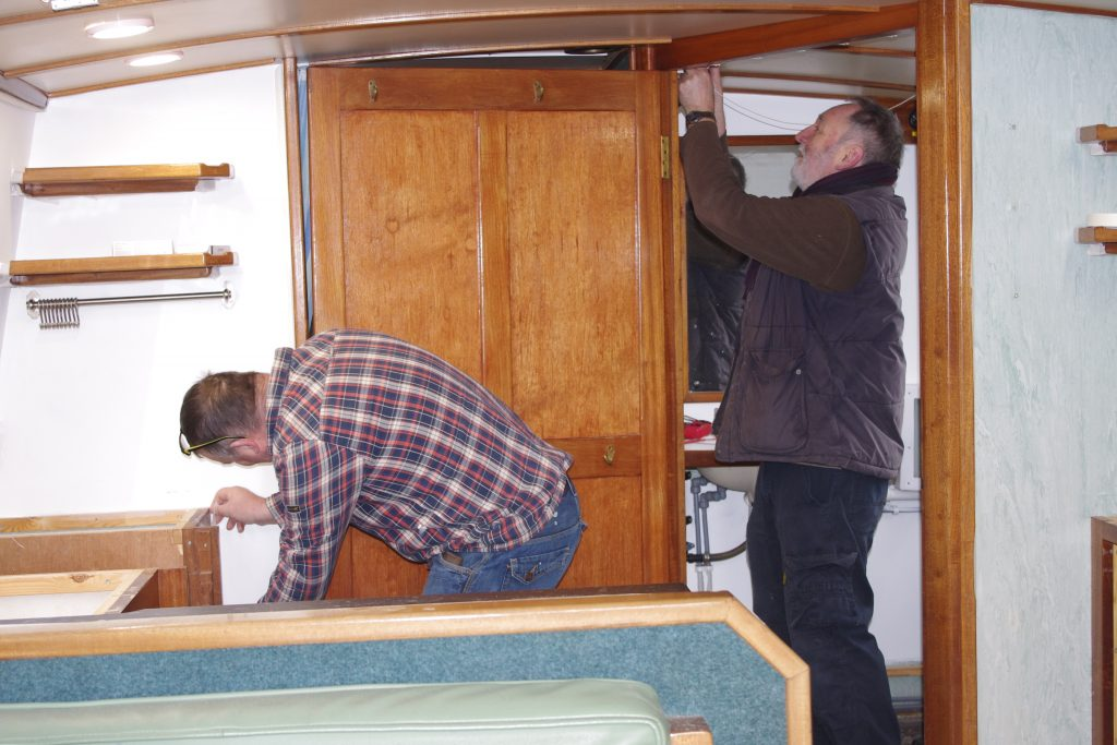 Maintenance to Rachel Bruce boat