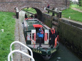 Diana in a lock