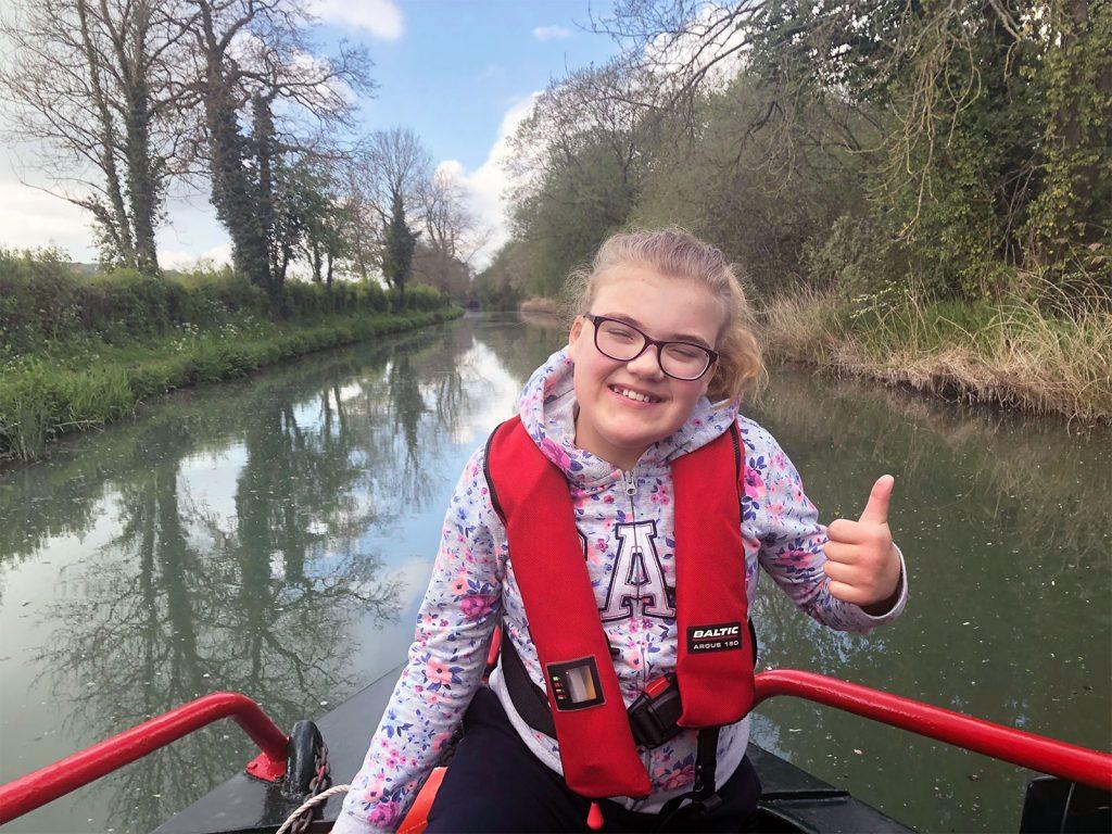 Child enjoying the Hannah boat