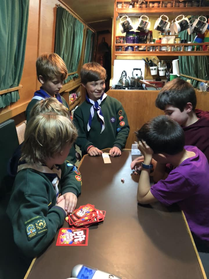 Scouts playing games